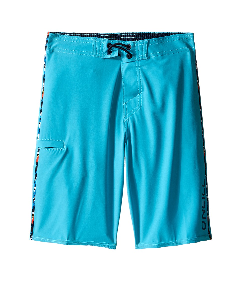 O'Neill Kids - Hyperfreak Solid Boardshorts (Little Kids) (Turquoise) Boy's Swimwear