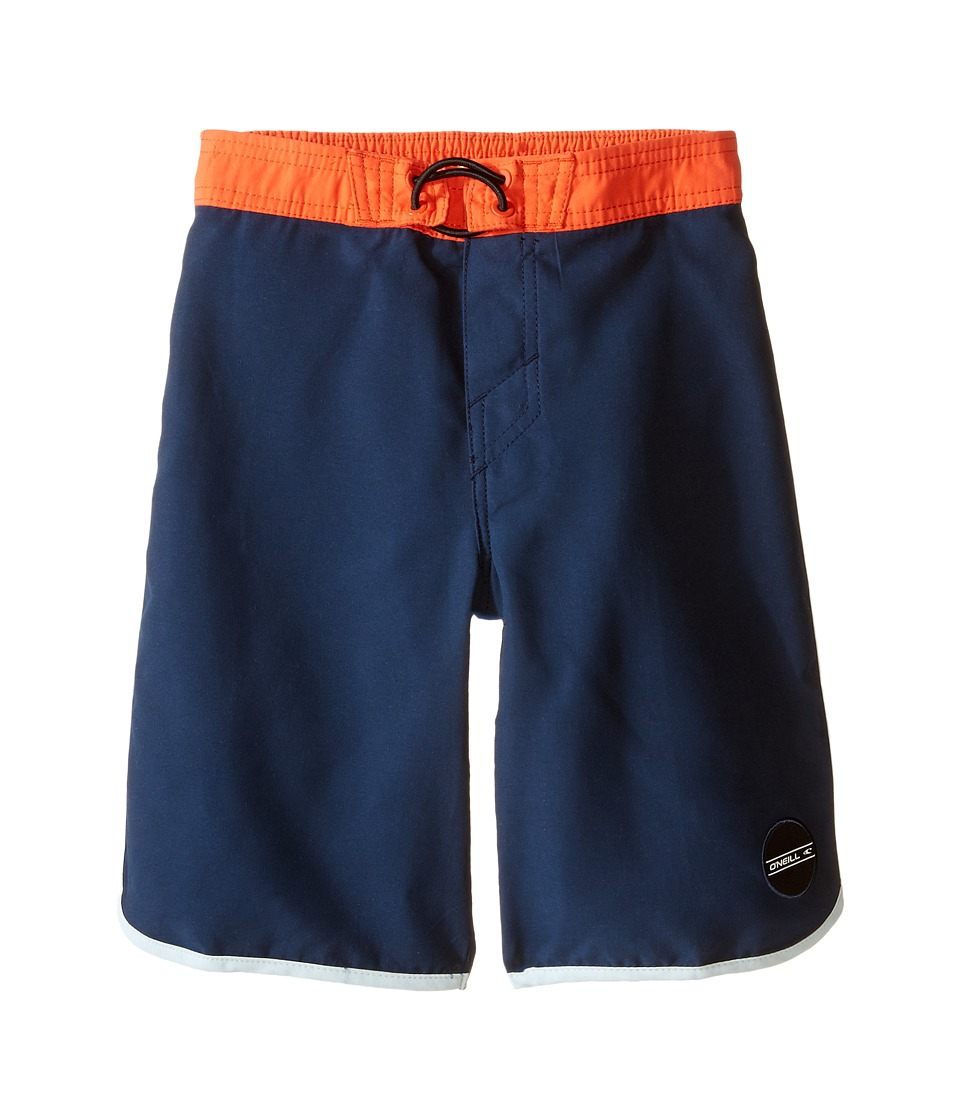 O'Neill Kids - Santa Cruz Scallop Boardshorts (Little Kids) (Dark Navy) Boy's Swimwear