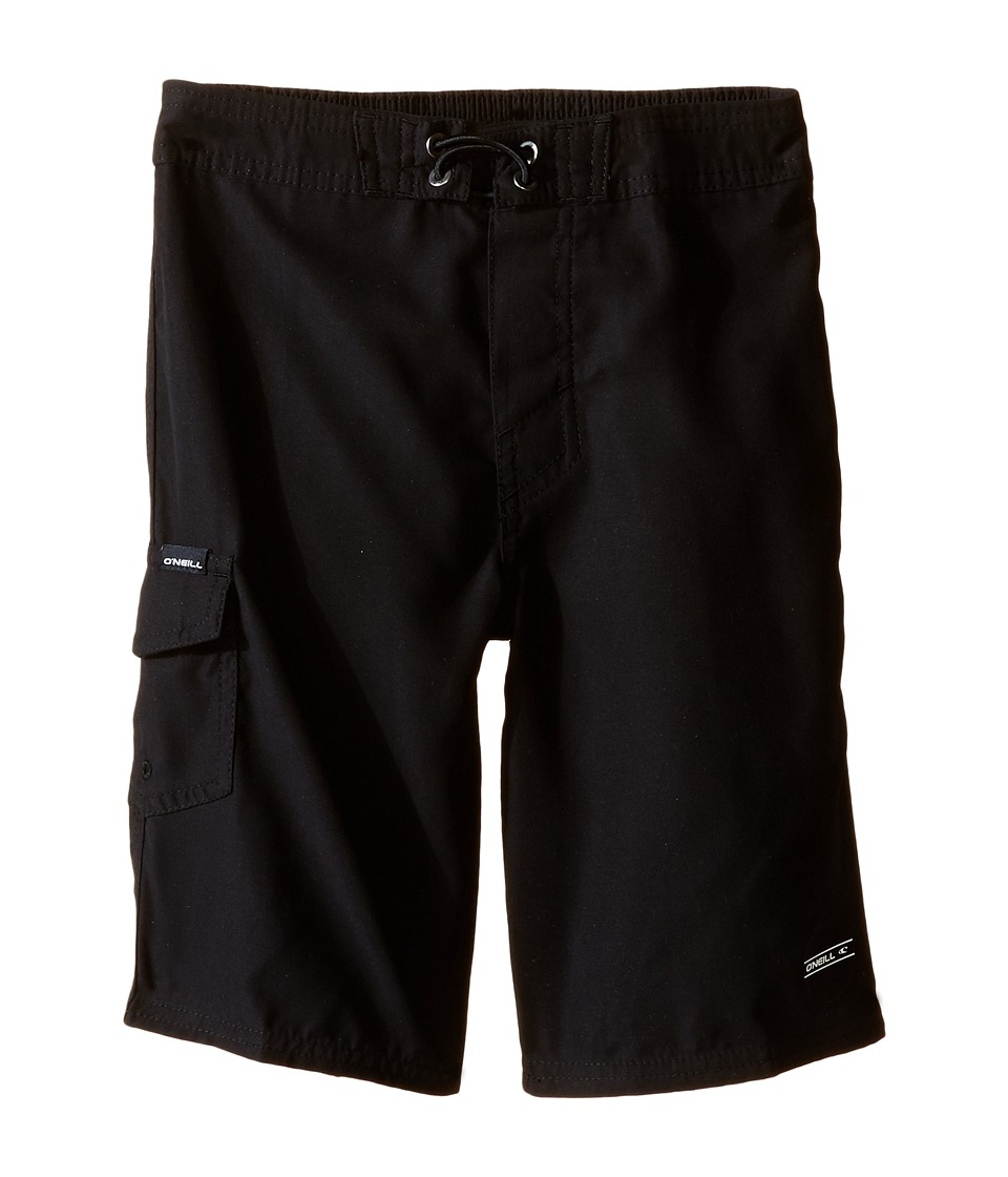 O'Neill Kids - Santa Cruz Solid Boardshorts (Little Kids) (Black) Boy's Swimwear