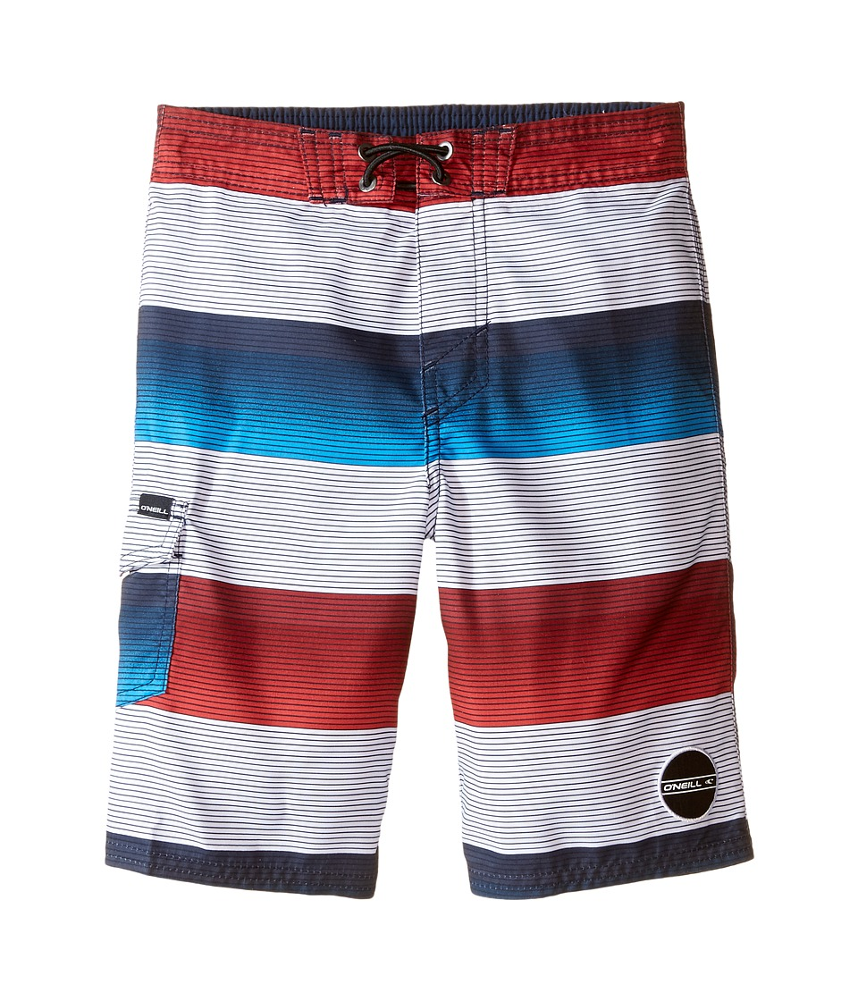 O'Neill Kids - Santa Cruz Stripe Boardshorts (Little Kids) (White) Boy's Swimwear