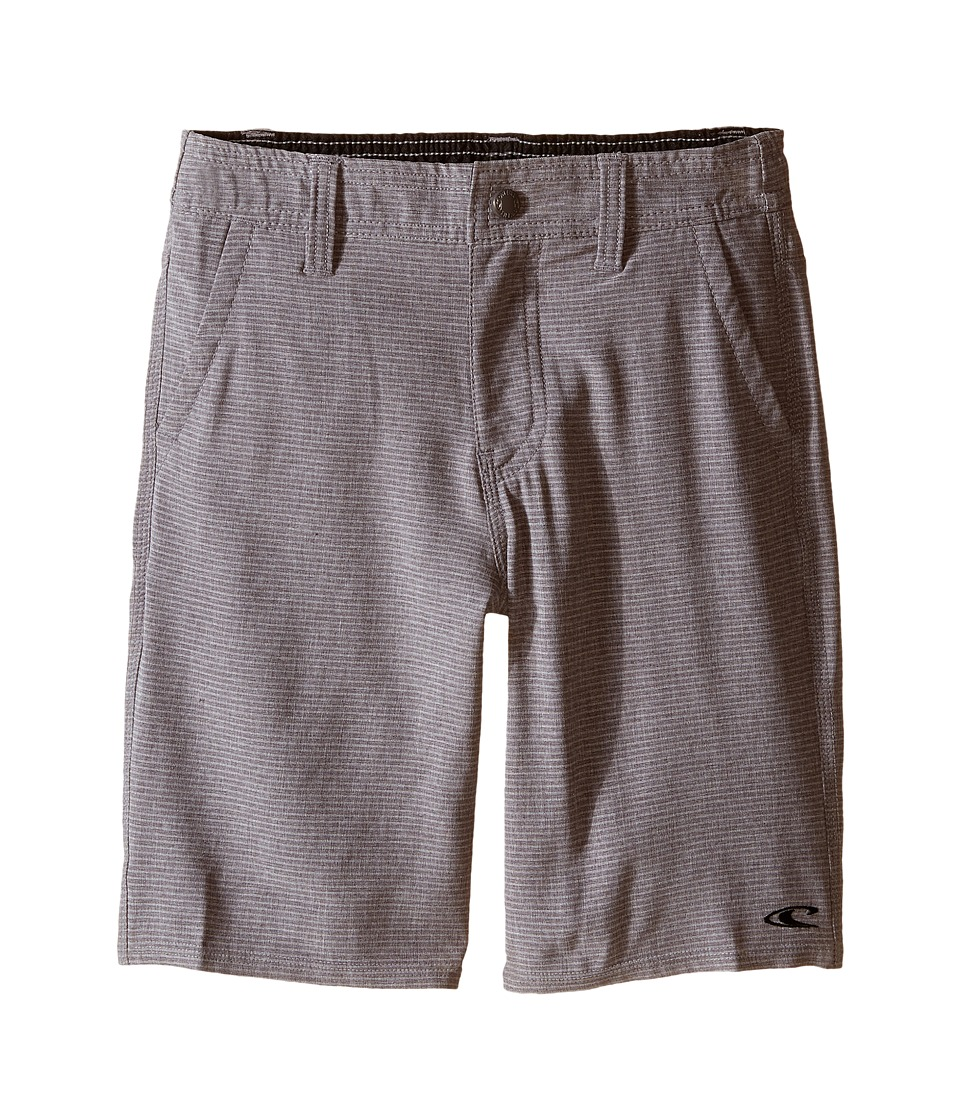 O'Neill Kids - Locked Stripe Boardshorts (Little Kids) (Charcoal) Boy's Swimwear