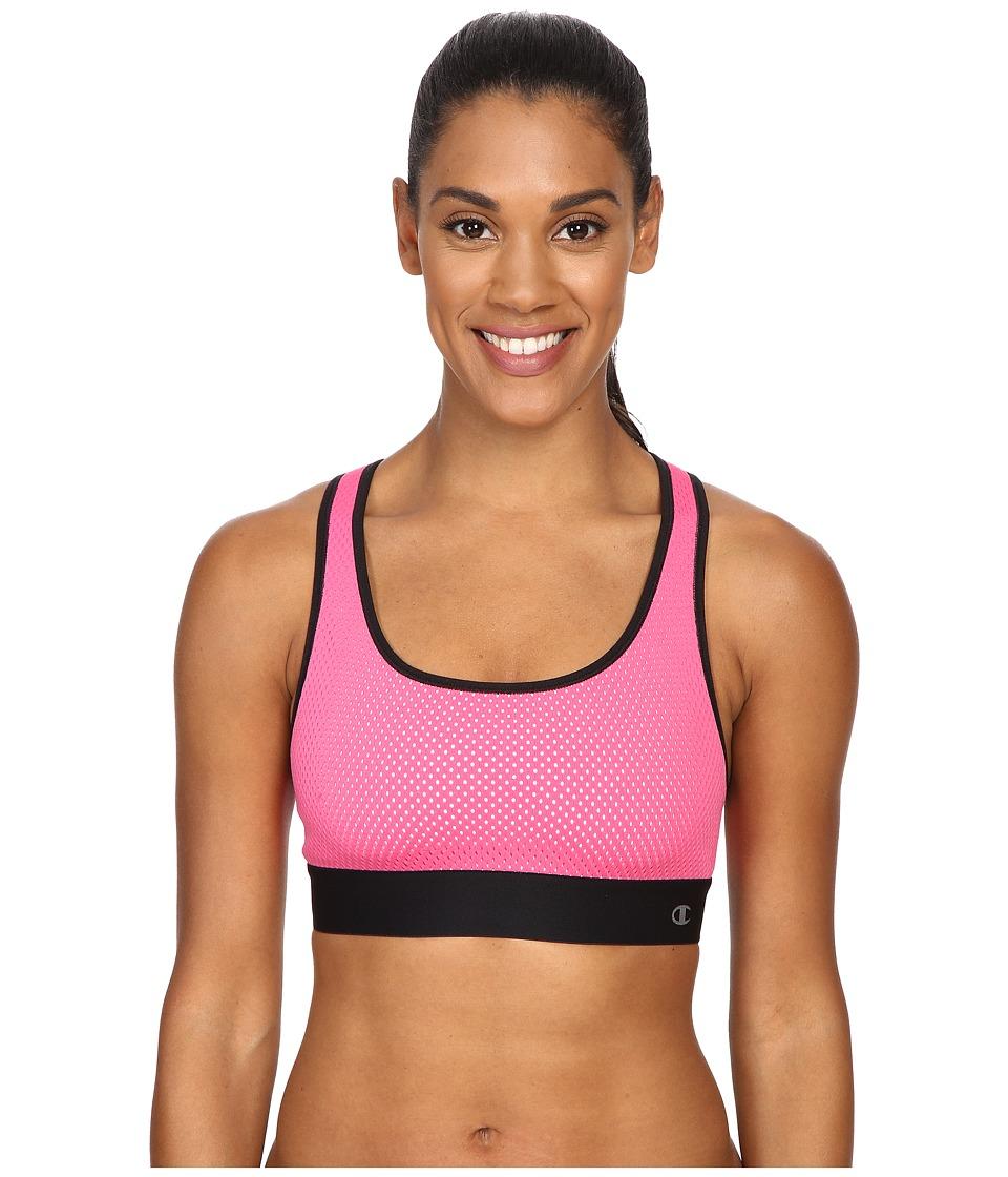 Champion - Mesh Freedom Racerback (Pinksicle/Black) Women's Workout