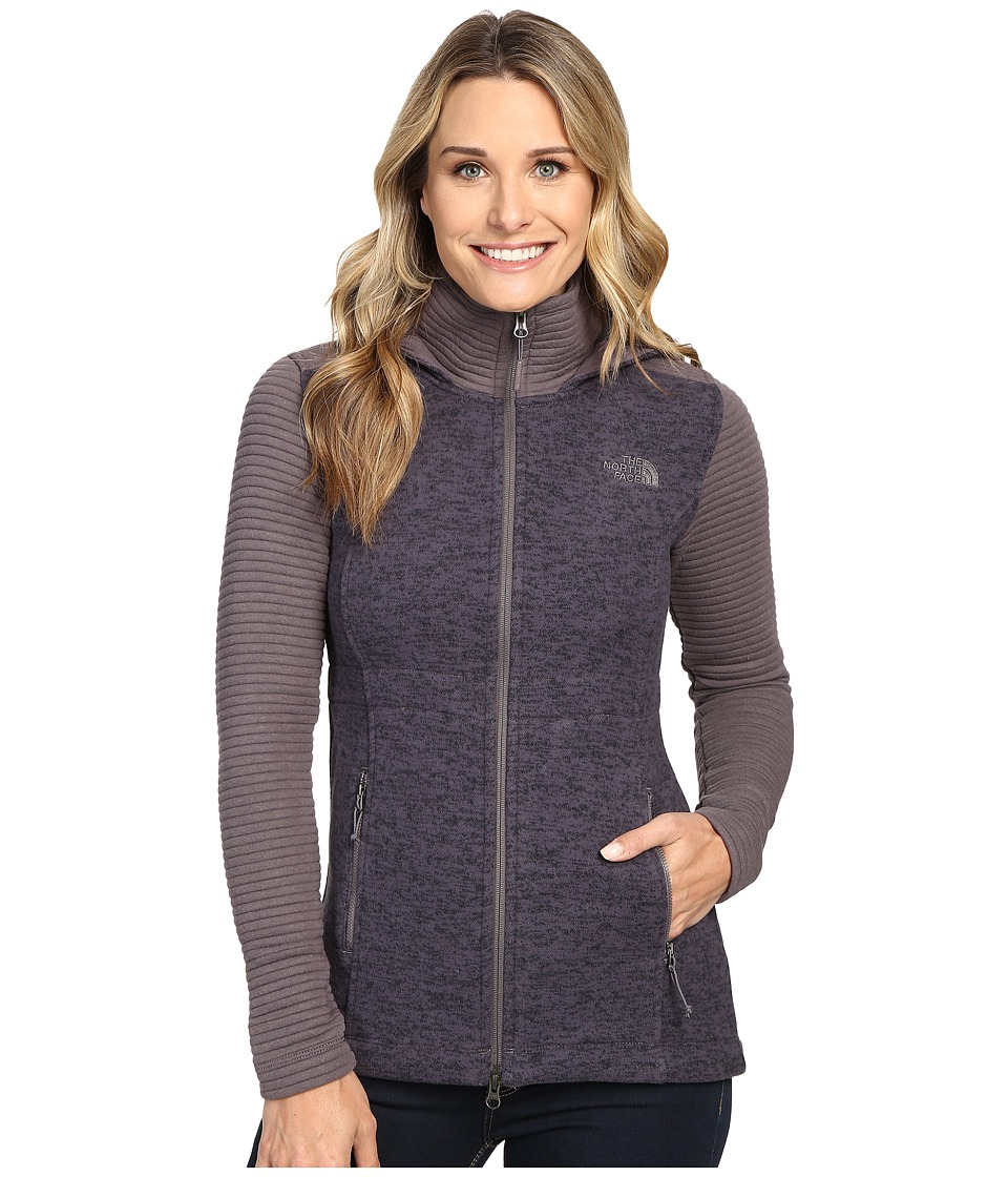 The North Face - Indi Insulated Hoodie (Rabbit Grey Heather/Rabbit Grey) Women's Coat
