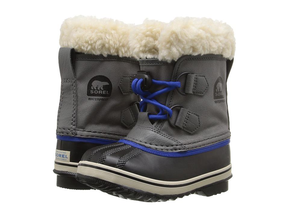 SOREL Kids Yoot Pactm Nylon (Toddler/Little Kid) (City Grey) Boys Shoes