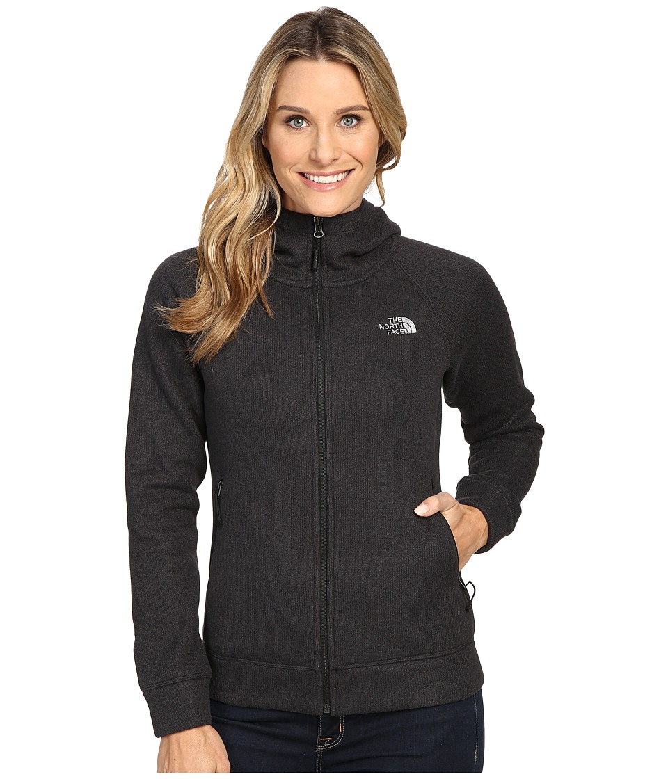 The North Face - Crescent Raschel Hoodie (TNF Black Heather) Women's Sweatshirt