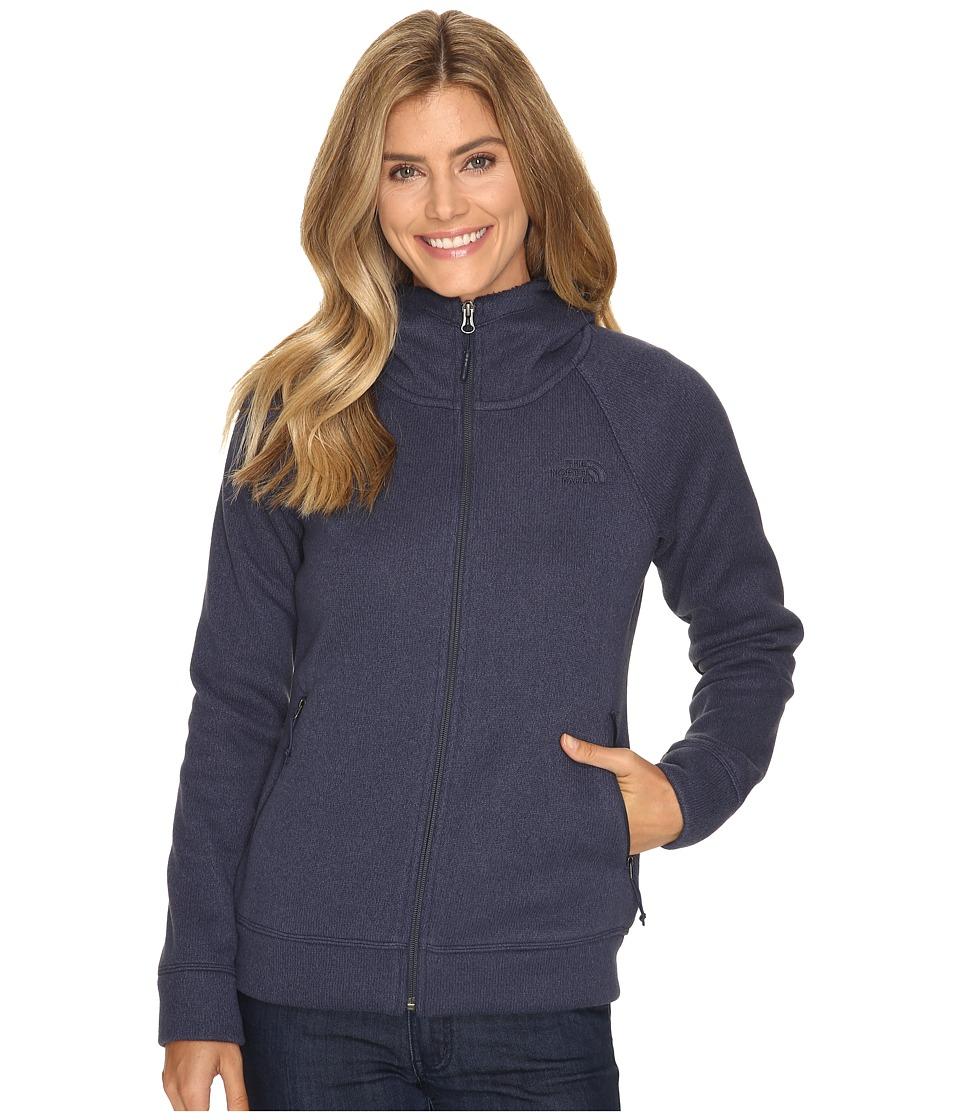 The North Face - Crescent Raschel Hoodie (Cosmic Blue Heather) Women's Sweatshirt