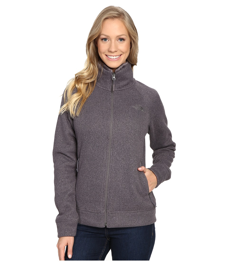 The North Face - Crescent Raschel Full Zip Jacket (Rabbit Grey Heather) Women's Coat