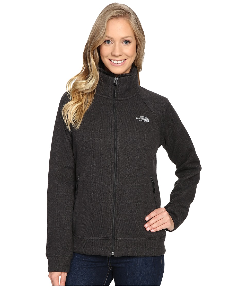 The North Face - Crescent Raschel Full Zip Jacket (TNF Black Heather) Women's Coat