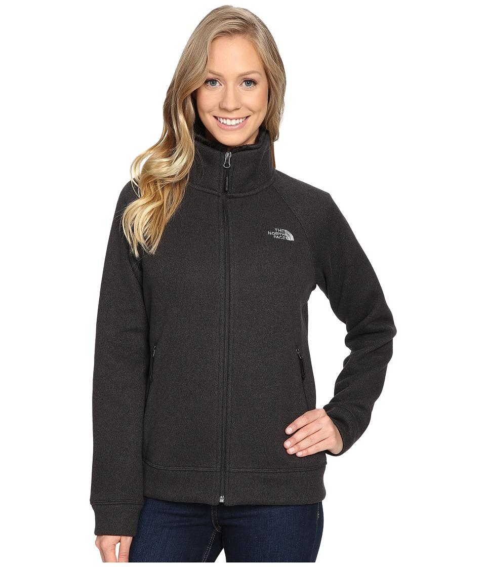 The North Face - Crescent Raschel Full Zip Jacket (TNF Black Heather) Women's Coat