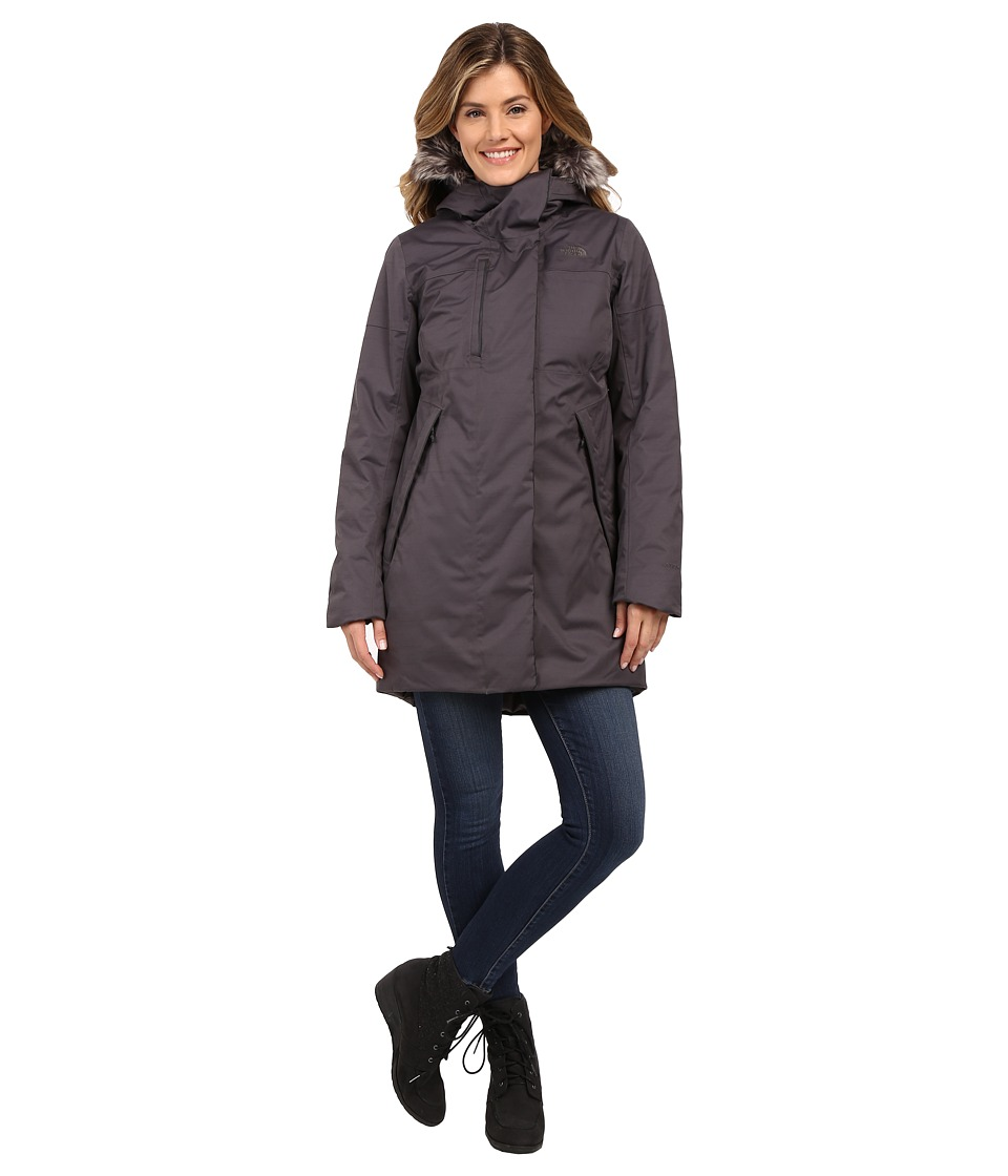 The North Face - Crestmont Parka (Graphite Grey Slub) Women's Coat