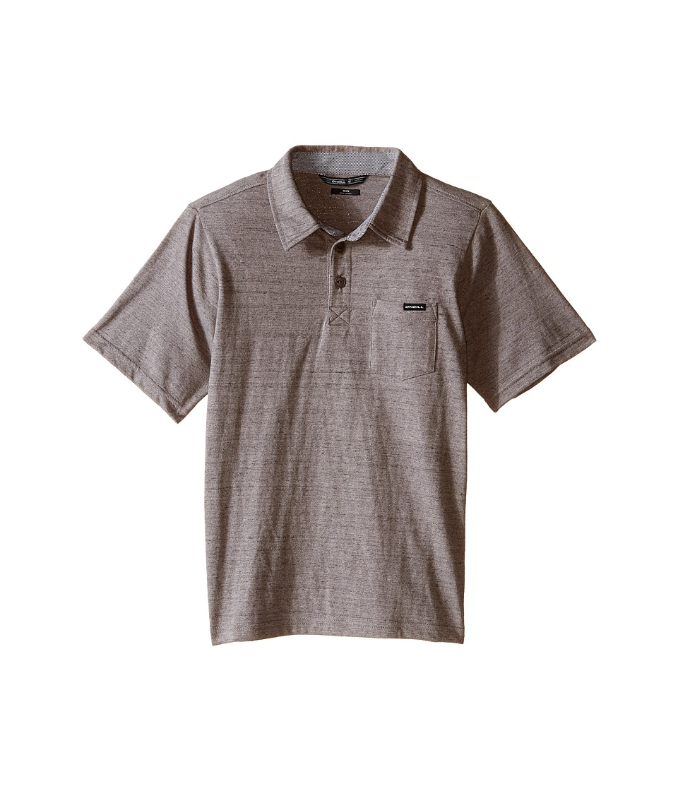 O'Neill Kids - The Bay Polo Short Sleeve Top (Little Kids) (Heather Grey) Boy's Short Sleeve Pullover