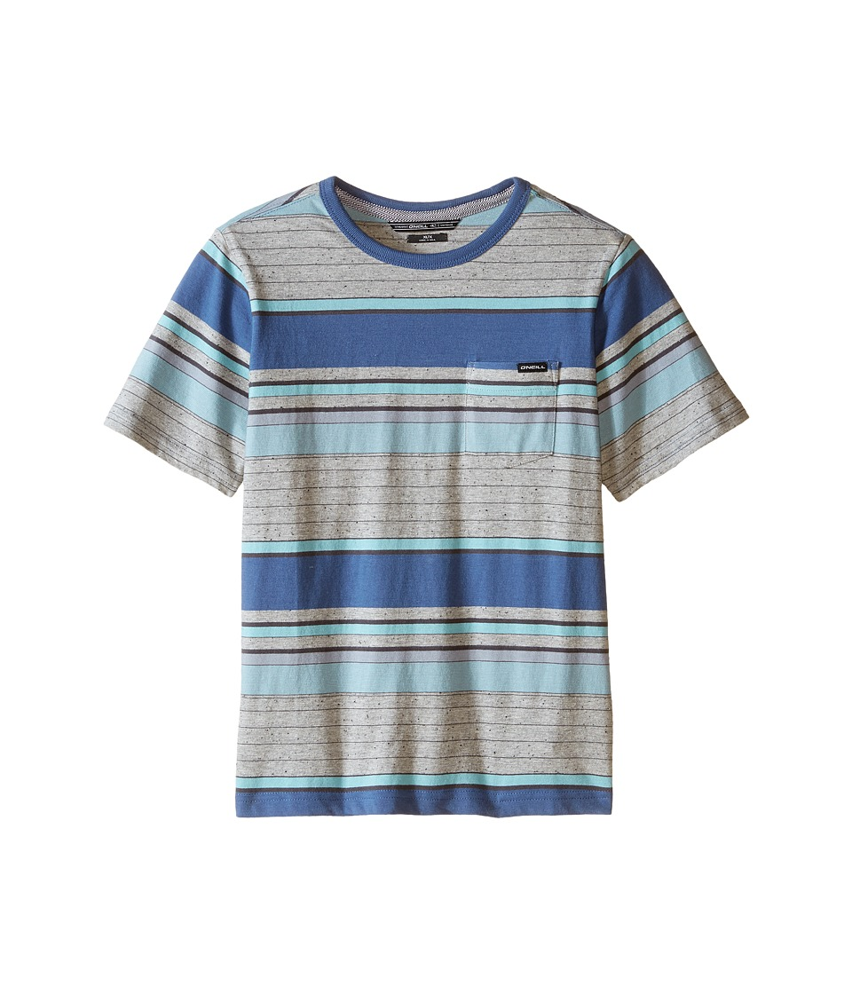 O'Neill Kids - Lewis Short Sleeve Crew Top (Little Kids) (Blue) Boy's Short Sleeve Pullover