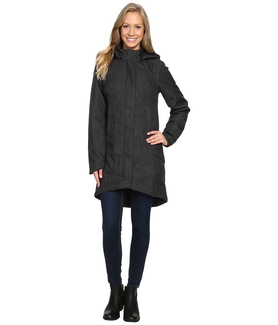 The North Face - Temescal Trench Coat (TNF Dark Grey Heather Herringbone) Women's Coat