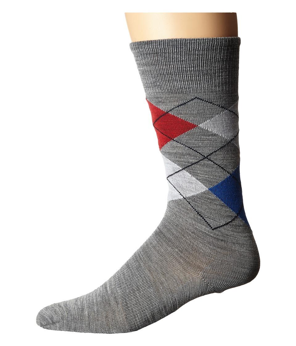 Smartwool - Diamond Slim Jim (Light Gray/Navy) Men's Crew Cut Socks Shoes