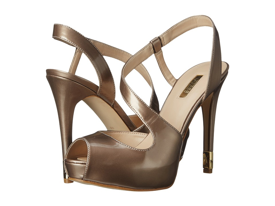 GUESS - Hilarie3 (Natural Patent) High Heels