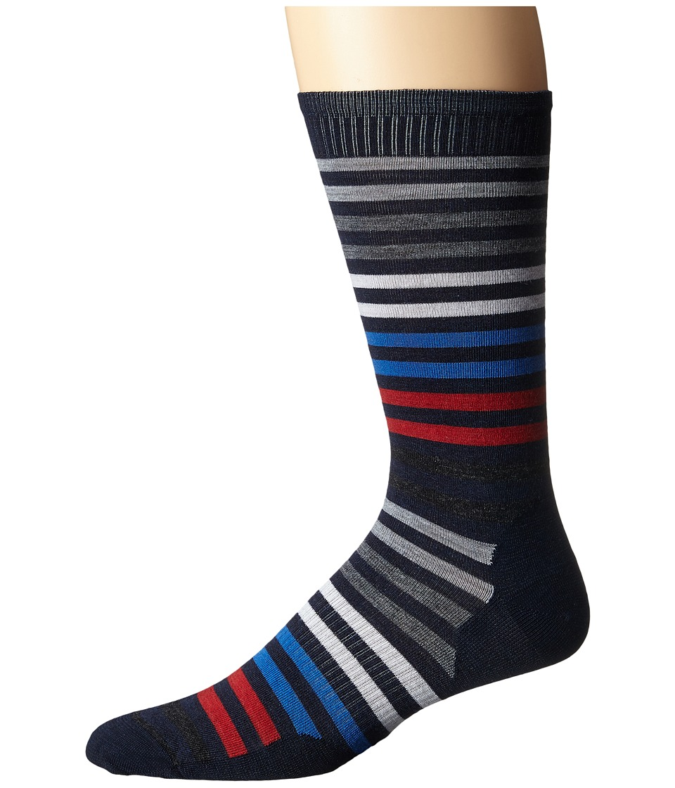 Smartwool - Spruce Street Crew (Deep Navy Heather) Men's Crew Cut Socks Shoes