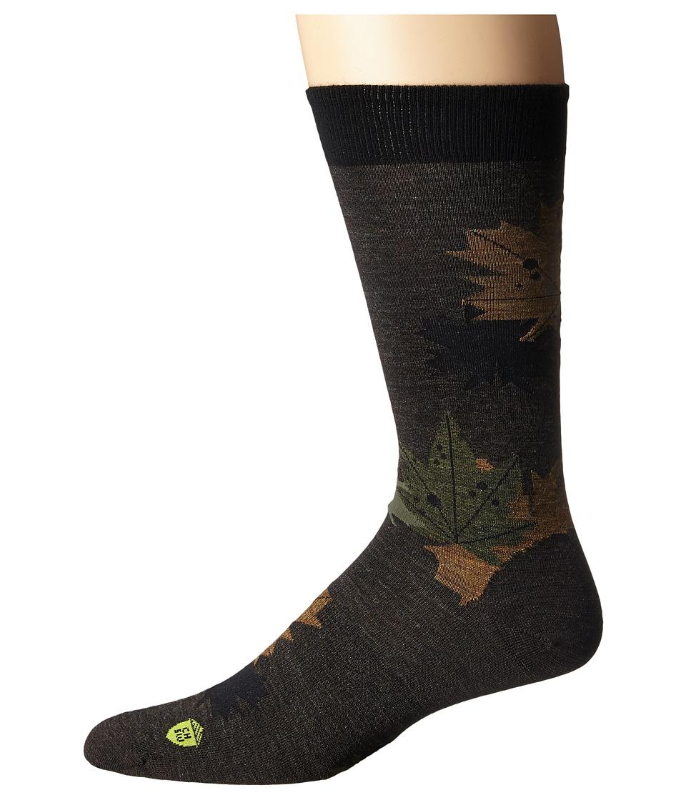 Smartwool - Glacial Bay Camo Leaf (Chestnut) Men's Crew Cut Socks Shoes