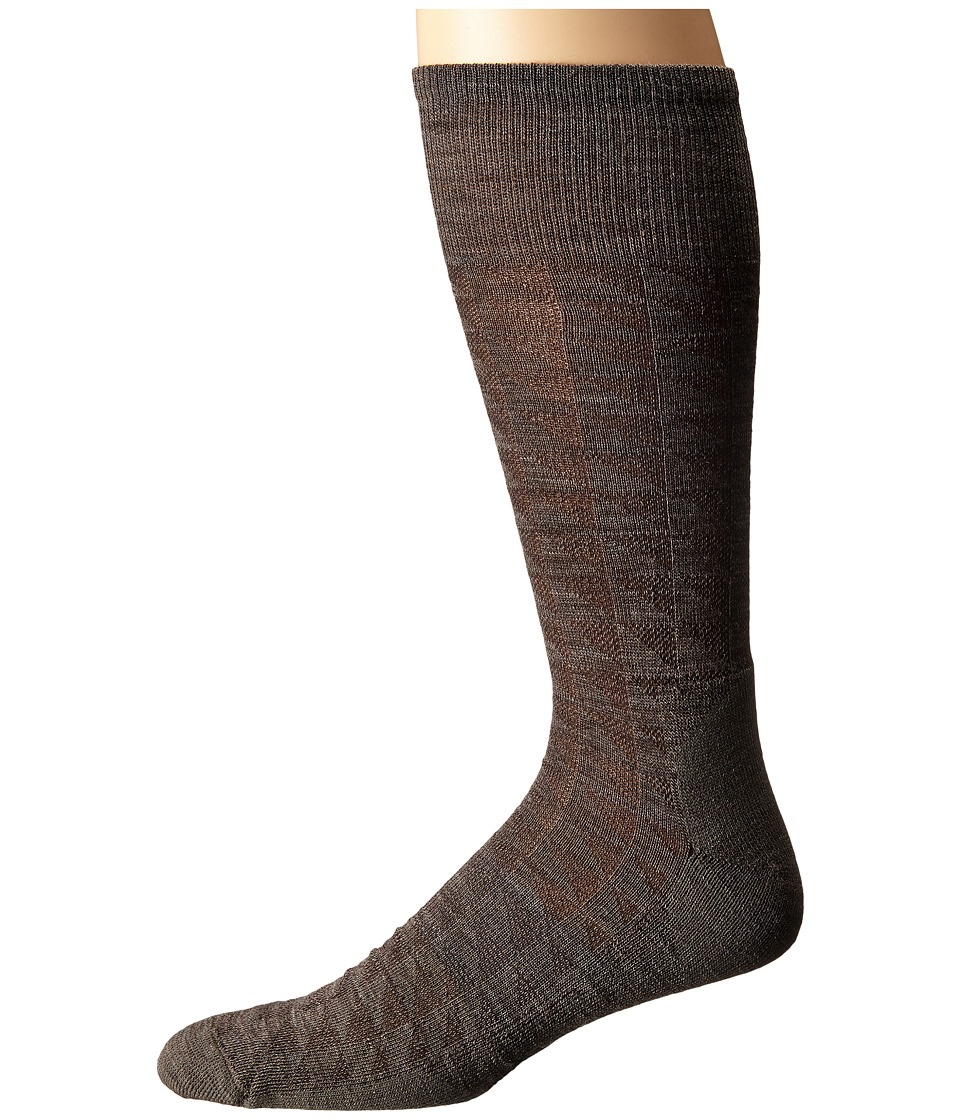 Smartwool - Triangulate Crew (Taupe) Men's Crew Cut Socks Shoes