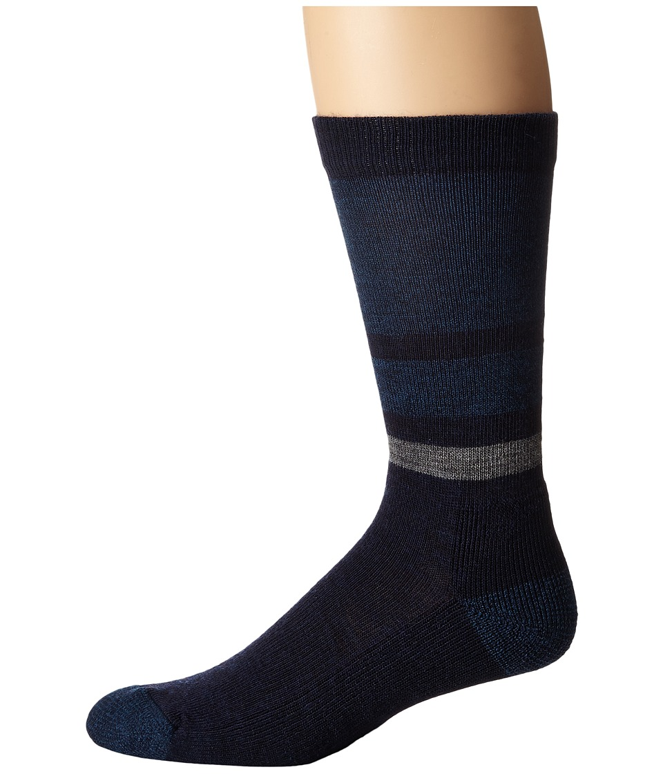 Smartwool - Shed Stripe (Deep Navy/Deep Sea) Men's Crew Cut Socks Shoes