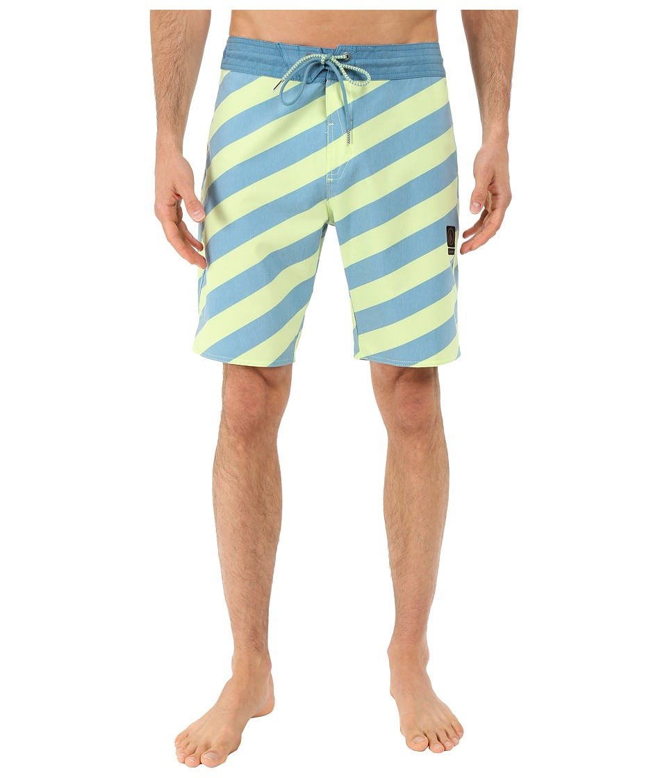 Volcom - Stripey Slinger 19 Boardshorts (Lime Ice) Men's Swimwear
