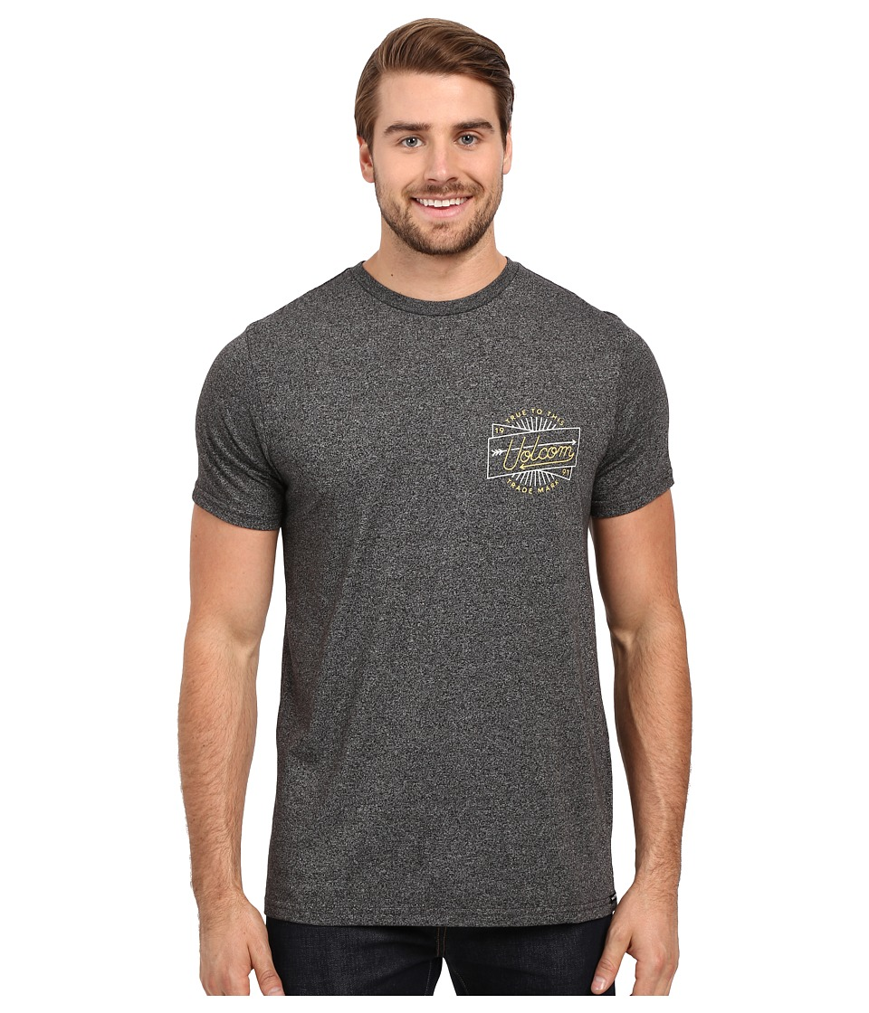 Volcom - Smoovie Short Sleeve Tee (Heather Black) Men