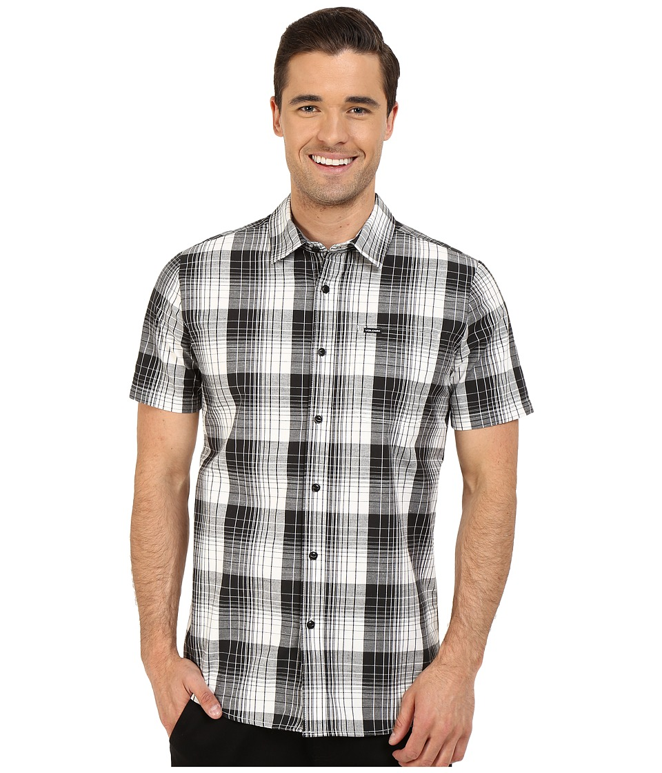 Volcom - Icarus Plaid Short Sleeve Woven (Paint White) Men's Short Sleeve Button Up