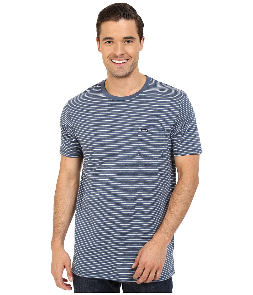 Volcom - Ledger Crew (Smokey Blue) Men's T Shirt