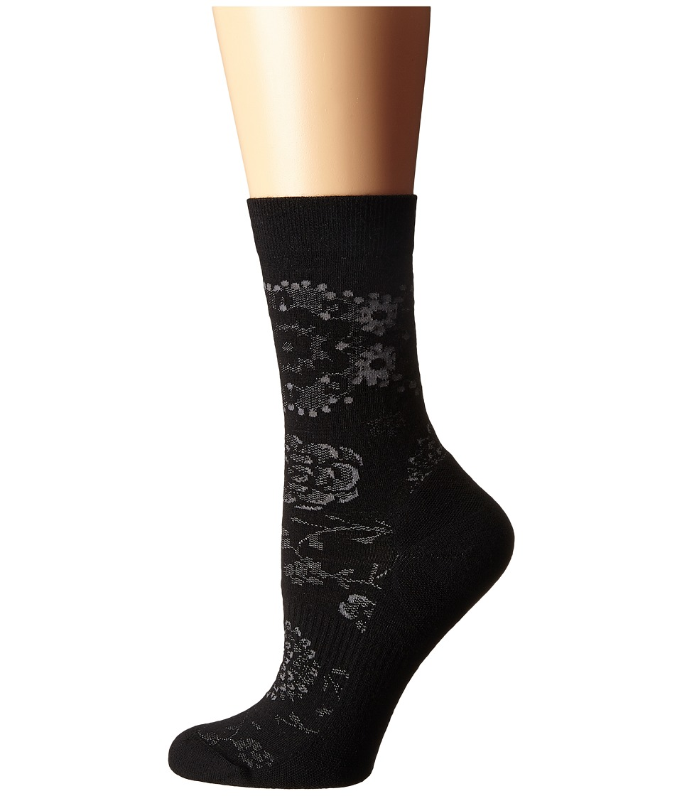 Smartwool - Dahlia Dream Crew (Black) Women's Crew Cut Socks Shoes