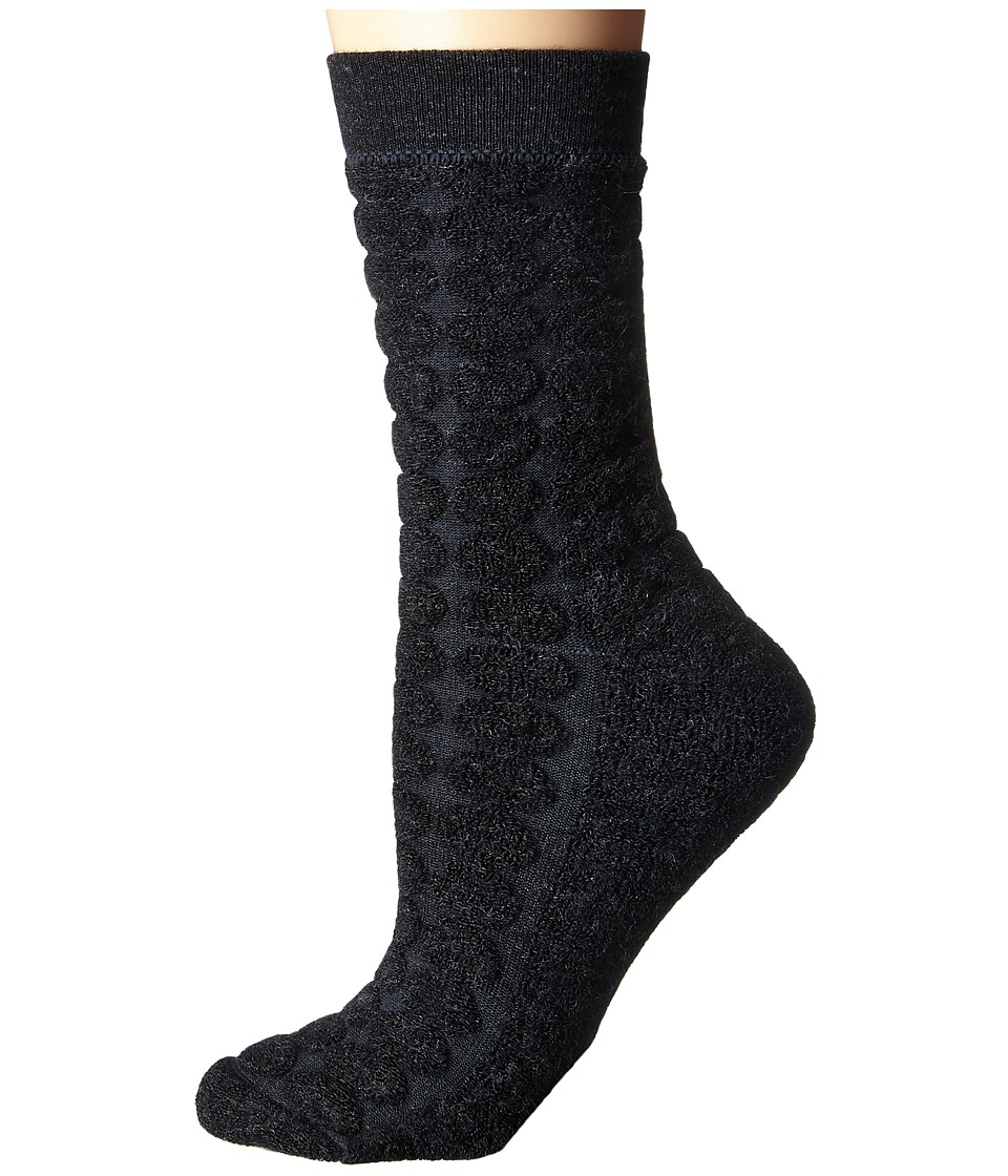 Smartwool - Cozy Dot Crew (Charcoal Heather) Women's Crew Cut Socks Shoes