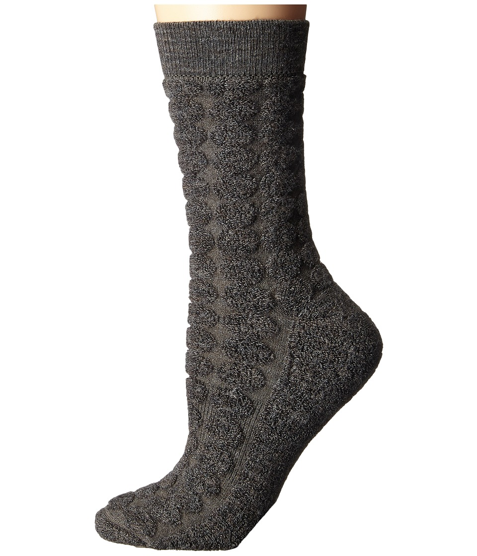 Smartwool - Cozy Dot Crew (Taupe Heather) Women's Crew Cut Socks Shoes