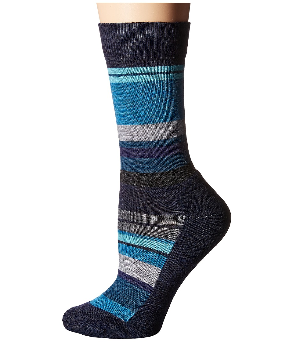 Smartwool - Saturnsphere (Deep Navy/Deep Sea) Women's Crew Cut Socks Shoes