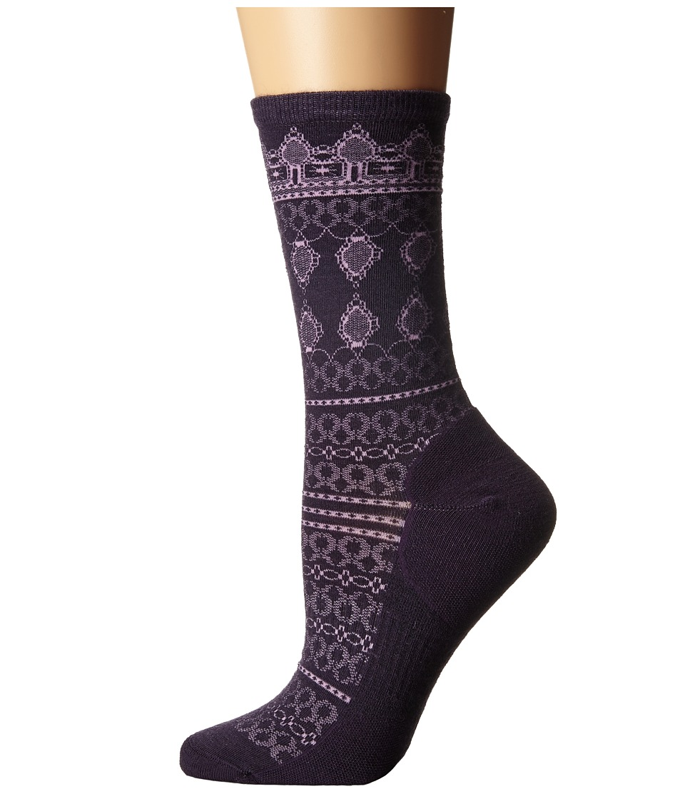 Smartwool - Lacet Crew (Mountain Purple) Women's Crew Cut Socks Shoes