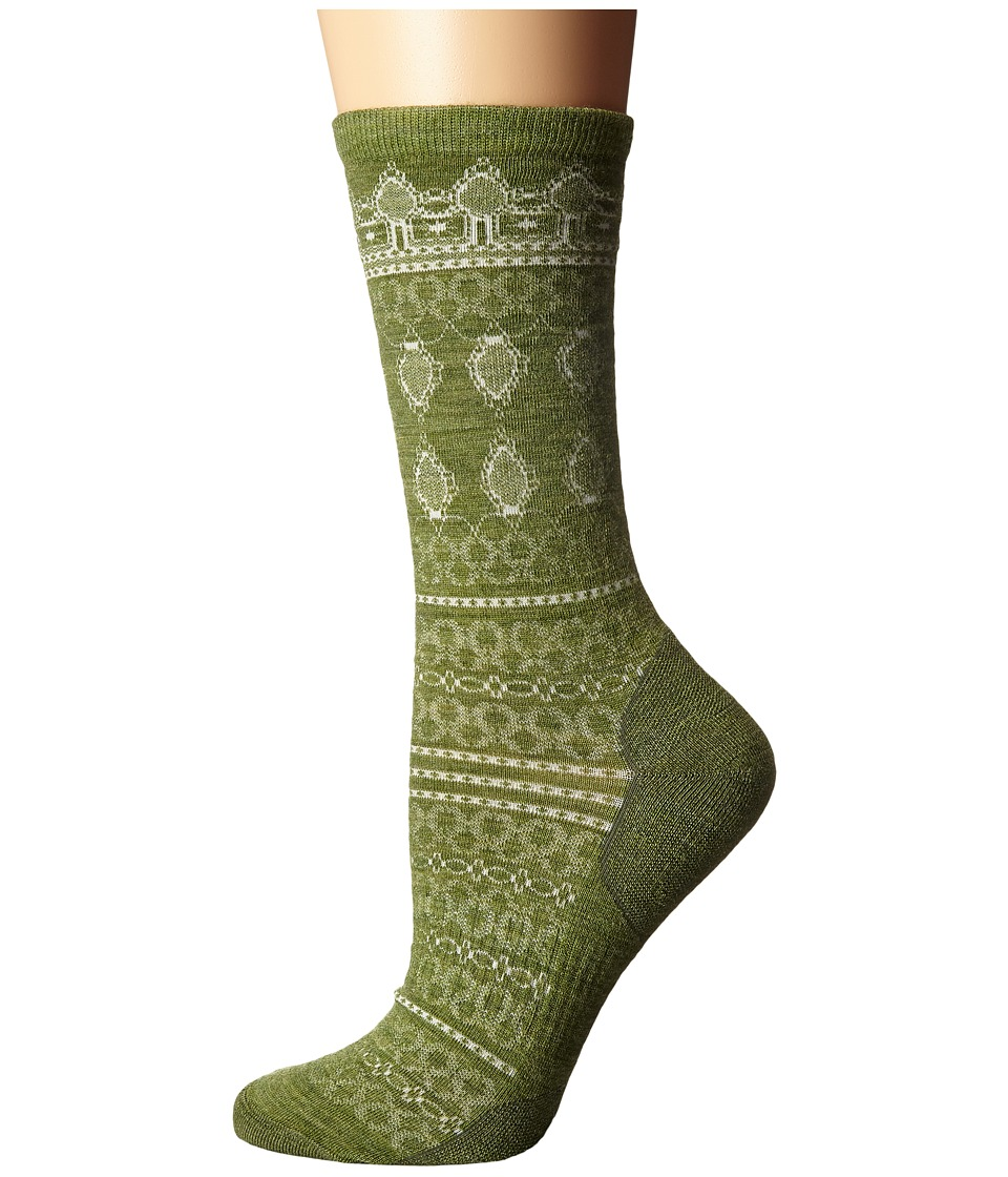 Smartwool - Lacet Crew (Light Loden Heather) Women's Crew Cut Socks Shoes