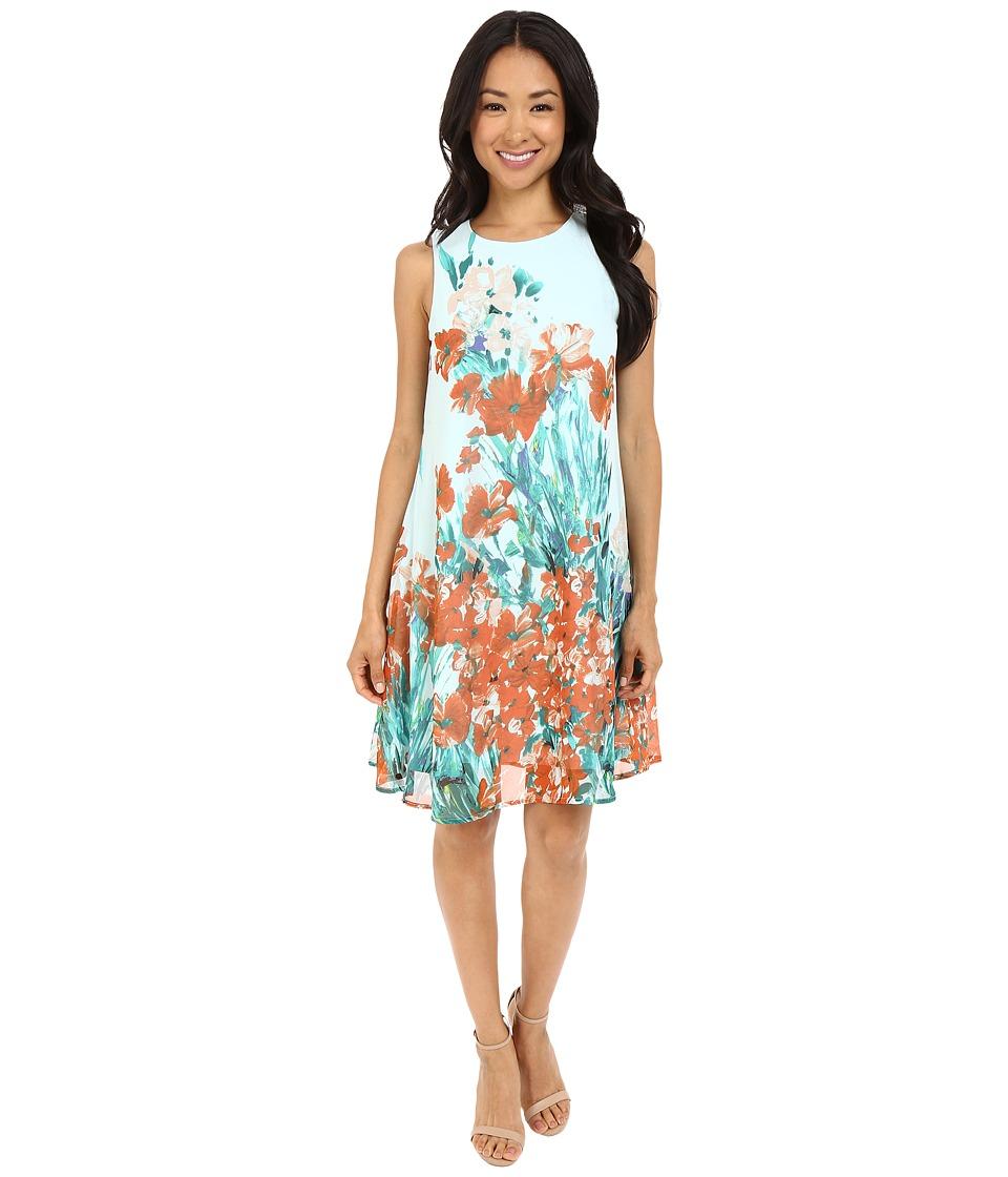 Christin Michaels - Janis Sleeveless Shift Dress (Seafoam) Women's Dress