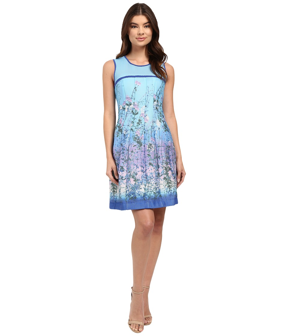 rsvp - Langley Sleeveless Mesh Dress (Blue/Pink) Women's Dress