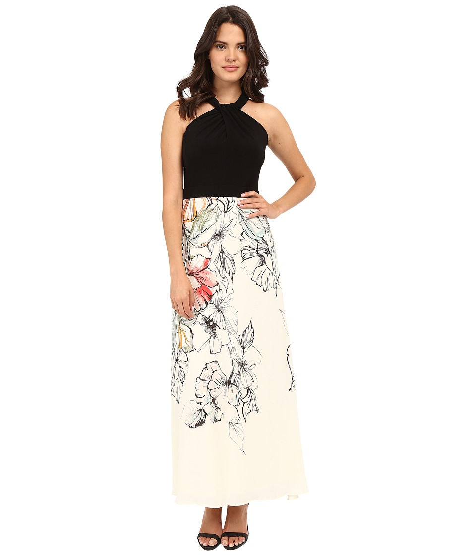 Christin Michaels Nadya Twist Front Maxi Dress