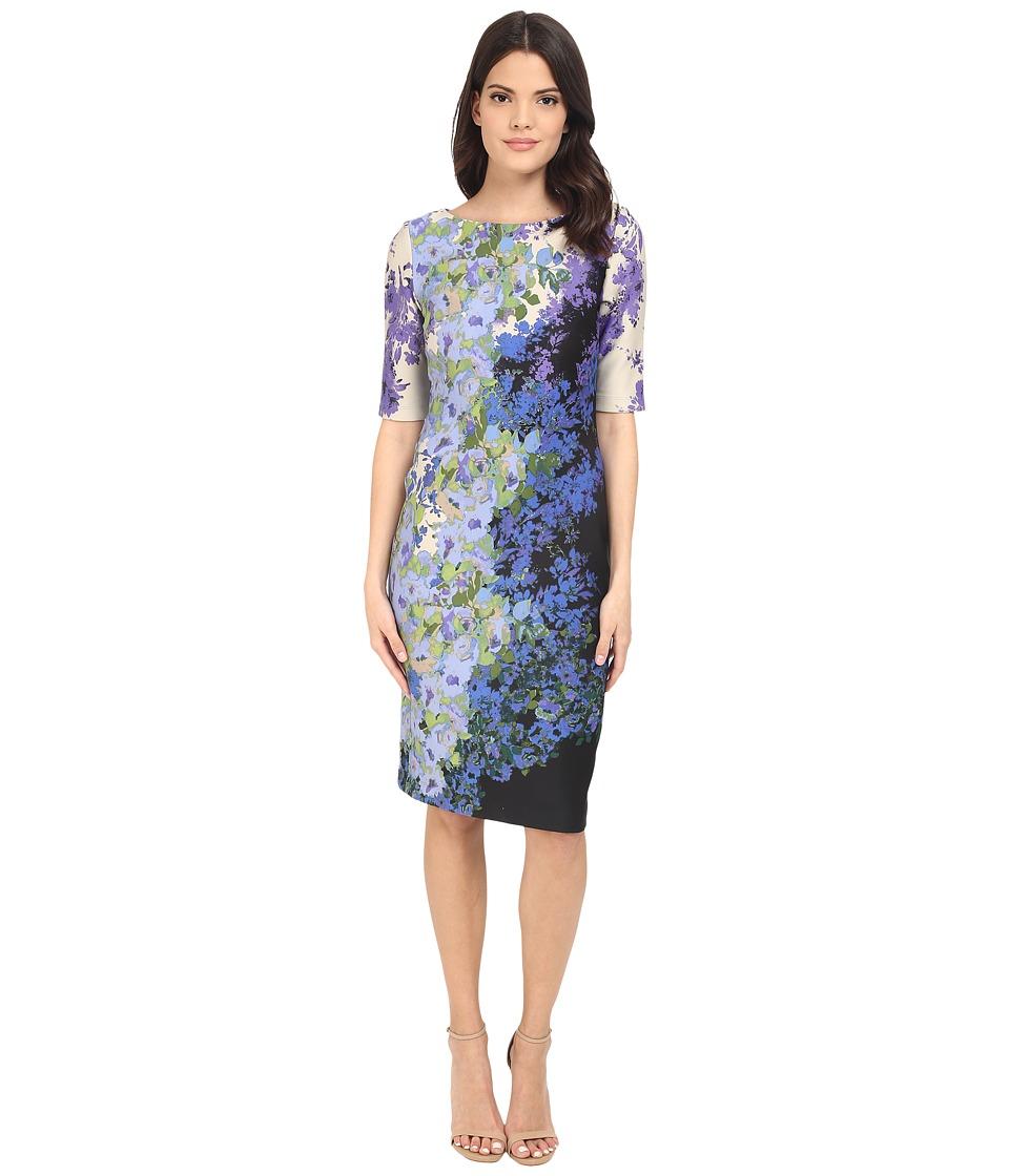 Christin Michaels - Gwen 3/4 Sleeve Dress (Periwinkle/Purple) Women's Dress