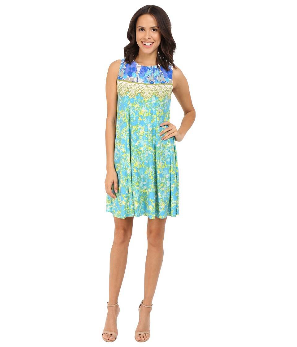 Christin Michaels - Leonie Sleeveless Flare Dress (Blue Multi) Women's Dress