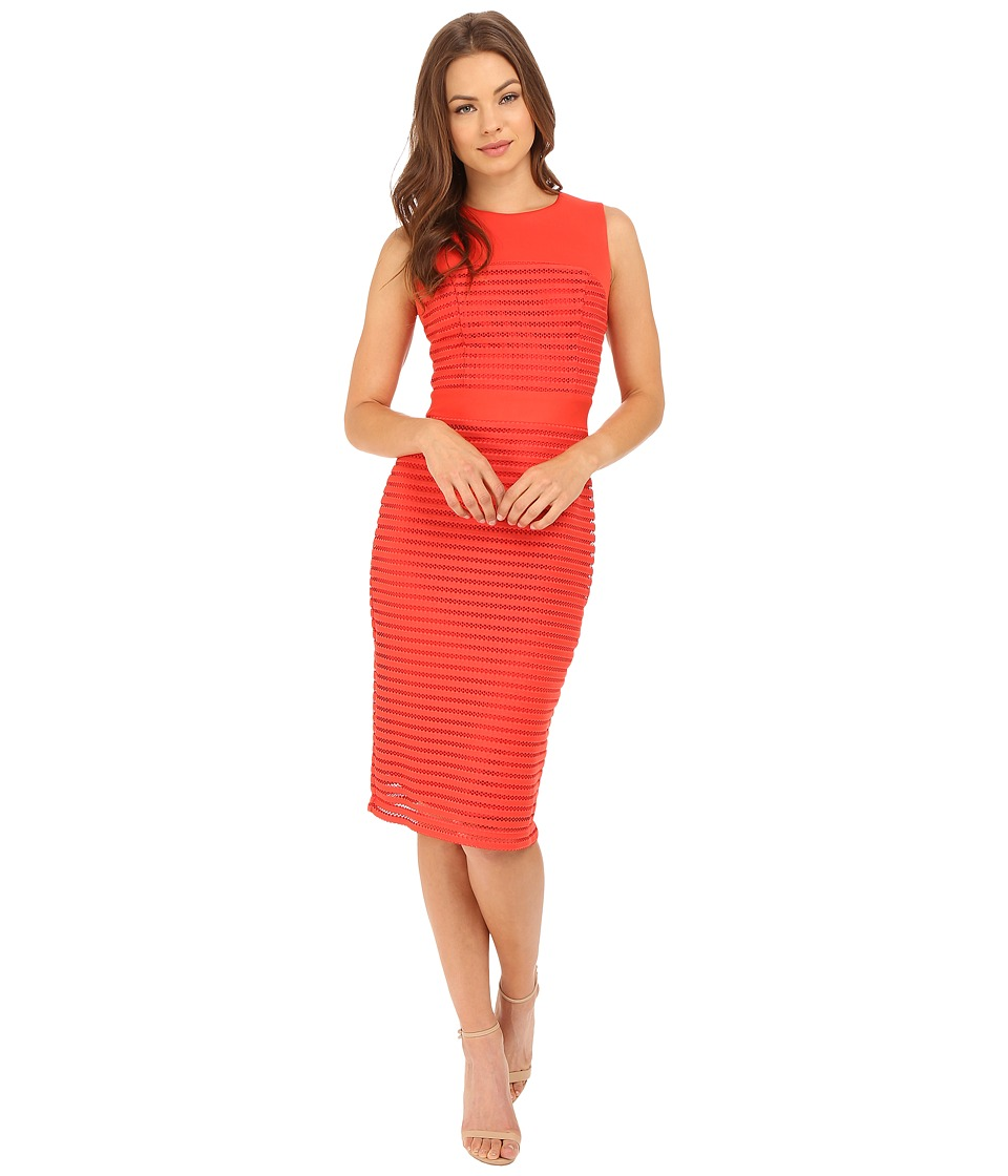 Christin Michaels - Nea Sleeveless Dress with Mesh Detail (Red) Women's Dress