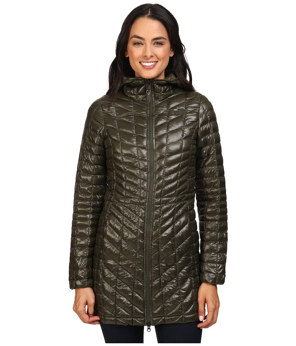 The North Face - ThermoBall Hooded Parka (Rosin Green) Women's Coat