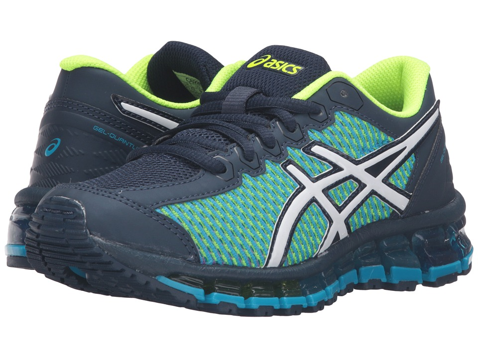 ASICS Kids - Gel-Quantum 360 2 GS (Little Kid/Big Kid) (Aruba Blue/White/Dark Navy) Boys Shoes