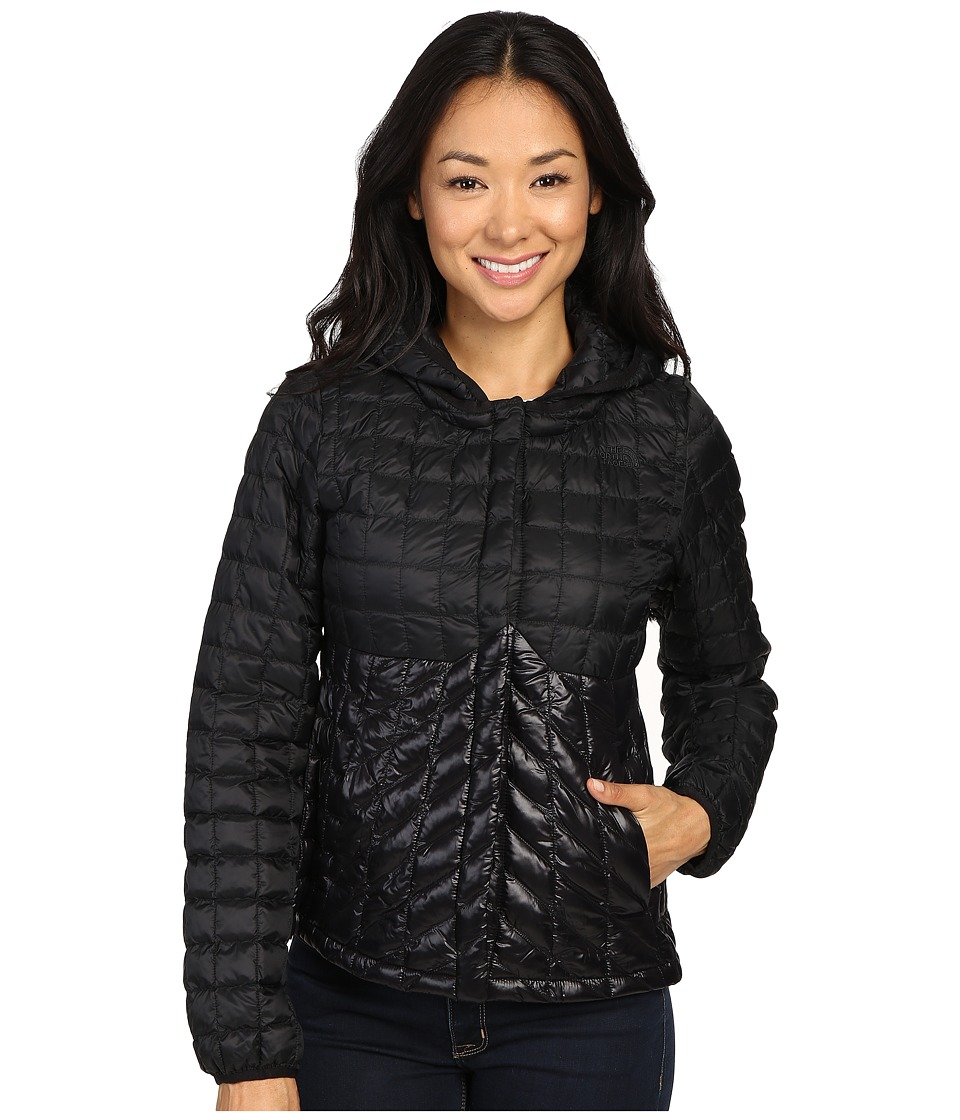 The North Face - ThermoBall Cardigan (TNF Black/Shiny TNF Black) Women's Sweatshirt