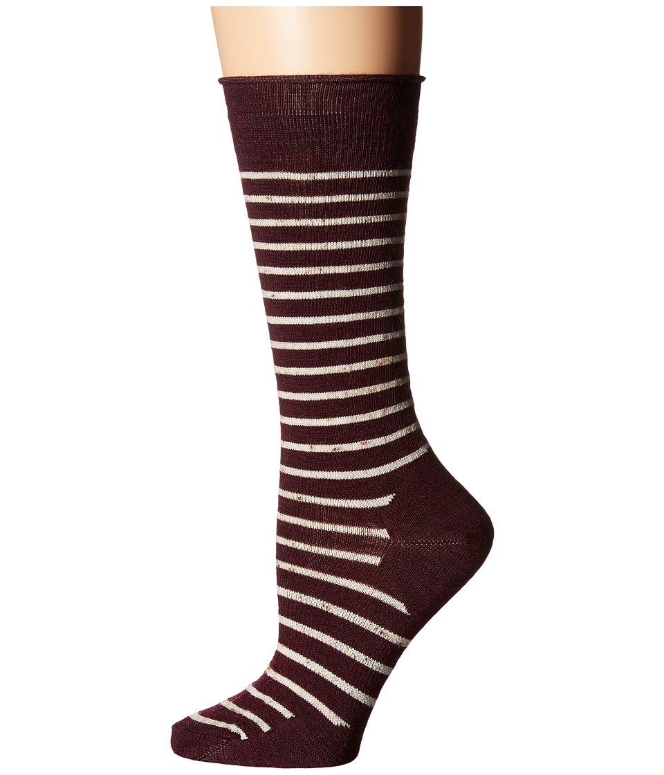 Smartwool - Vista View Mid Calf (Aubergine Heather) Women's Crew Cut Socks Shoes