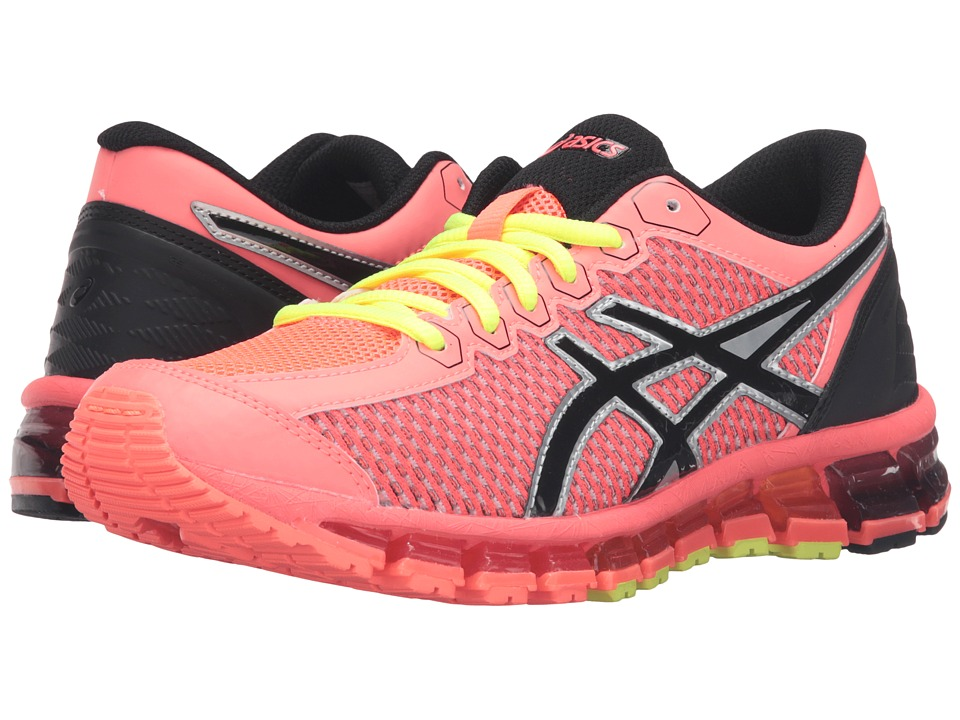 ASICS Kids - Gel-Quantum 360 2 GS (Little Kid/Big Kid) (Flash Coral/Black/Silver) Girls Shoes