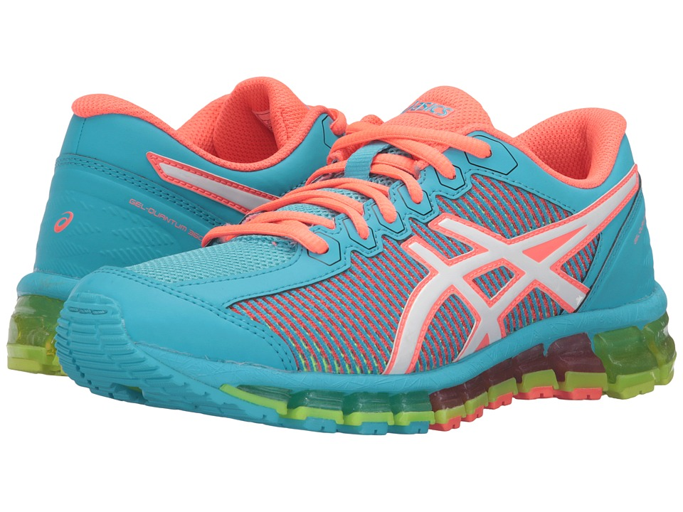 ASICS Kids - Gel-Quantum 360 2 GS (Little Kid/Big Kid) (Aquarium/White/Flash Coral) Girls Shoes
