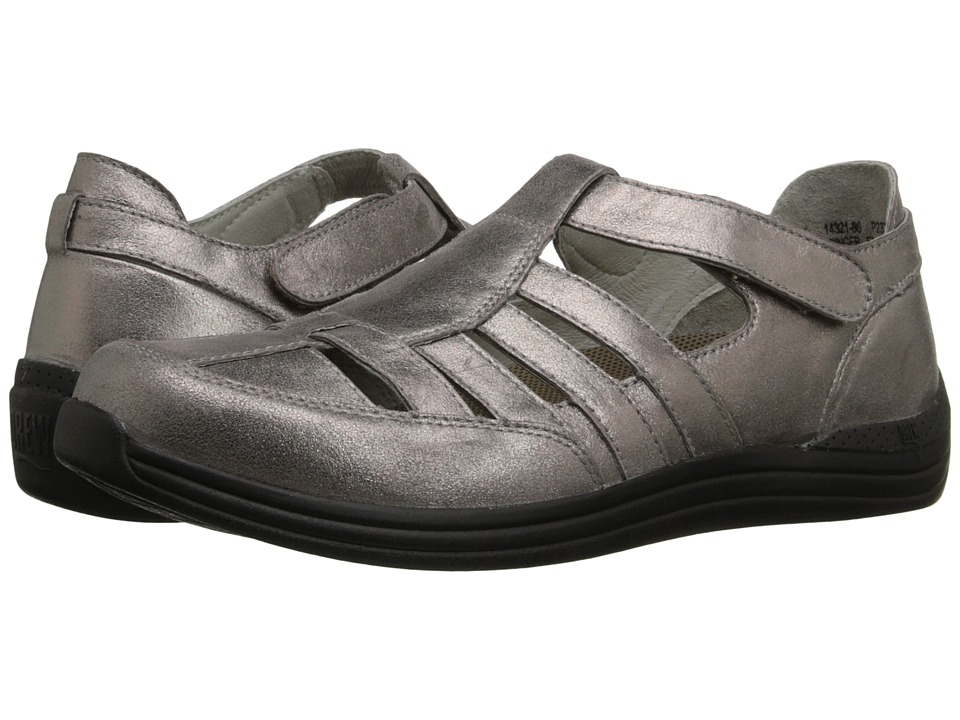 Drew - Ginger (Dusty Pewter Leather) Women's Hook and Loop Shoes