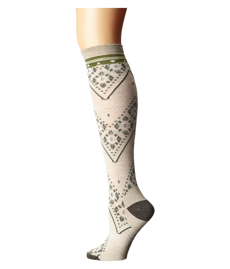 Smartwool - Lingering Lace Knee Highs (Natural Heather) Women's Knee High Socks Shoes