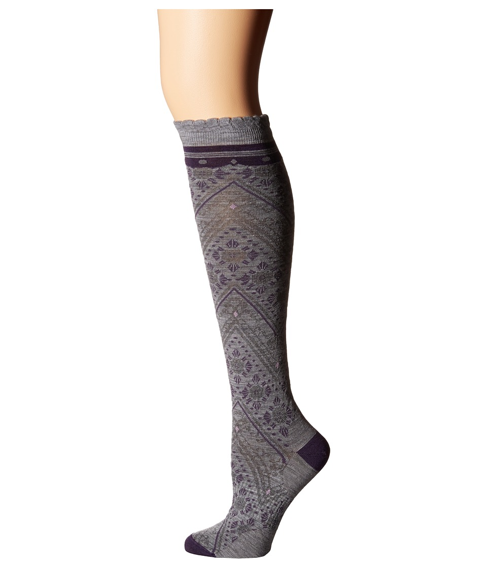 Smartwool - Lingering Lace Knee Highs (Light Gray Heather) Women's Knee High Socks Shoes