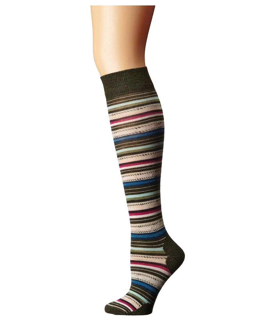 Smartwool - Margarita Knee Highs (Loden Heather) Women's Knee High Socks Shoes