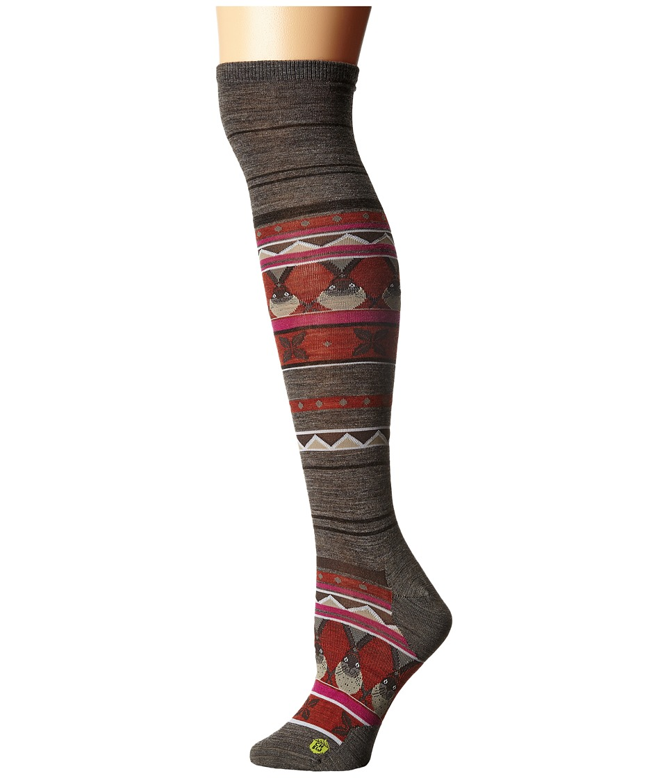 Smartwool - Charley Harper Glacial Bay Seal Knee Highs (Taupe) Women's Knee High Socks Shoes